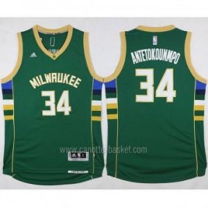 Maglie nba Milwaukee Bucks Giannis Antetokounmpo #34 verde 2016 stagione