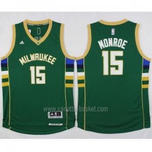 Maglie nba Milwaukee Bucks Greg Monroe #15 verde 2016 stagione