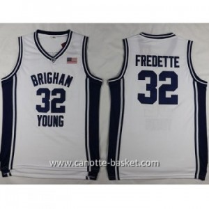Maglie nba NCAA Brigham Young University Jimmer Fredette #32 bianco