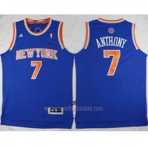Maglie nba New York Knicks Carmelo Anthony #7 blu nuovi tessuti