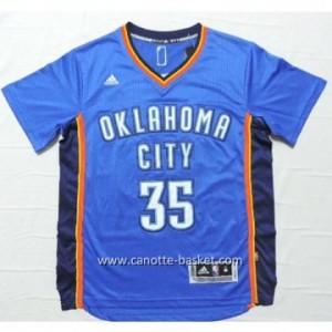 Maglie nba Oklahoma City Thunde Kevin Durant #35 blu manica corta