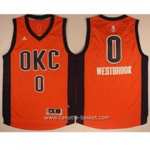 Maglie nba Oklahoma City Thunde Russell Westbrook #0 arancione