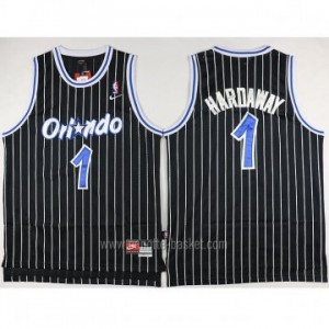 Maglie nba Orlando Magic Penny Hardaway #1 nero strisce