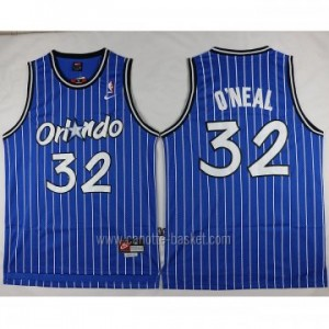 Maglie nba Orlando Magic Shaquille O'Neal #32 blu strisce