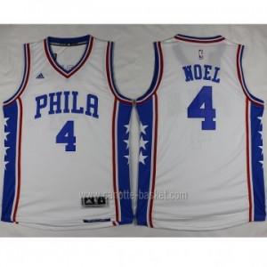 Maglie nba Philadelphia 76ers Nerlens Noel #4 bianco stagione 2016
