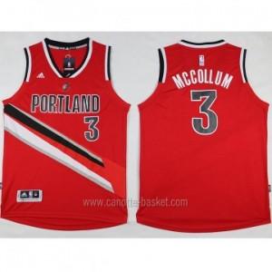 Maglie nba Portland Blazers C.J. McCollum #3 rosso nuovo