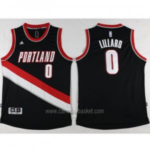 Maglie nba Portland Blazers Damian Lillard #0 nero nuovo