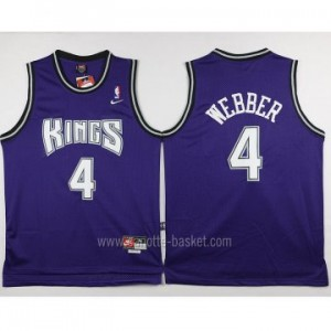 Maglie nba Sacramento Kings Chris Webber #4 porpora