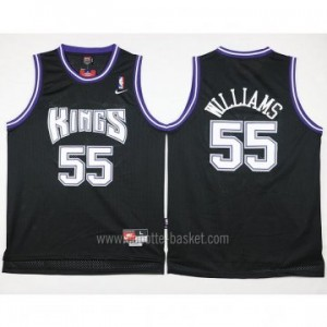 Maglie nba Sacramento Kings Jason Williams #55 nero