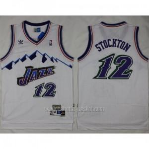 Maglie nba Utah Jazz John Stockton #12 bianco bianco snow Mountain Editio