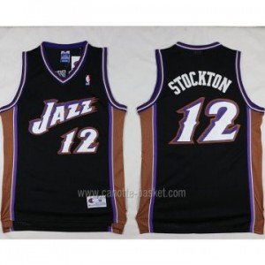 Maglie nba Utah Jazz John Stockton #12 nero