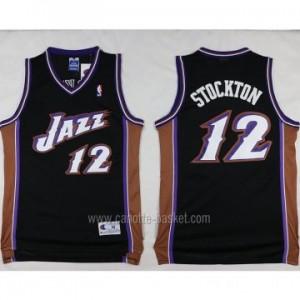 Maglie nba Utah Jazz John Stockton #12 nero