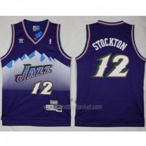 Maglie nba Utah Jazz John Stockton #12 porpora snow Mountain Editio