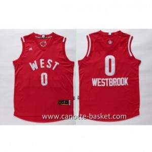 Maglie 2016 West All-Star Russell Westbrook #0 rosso