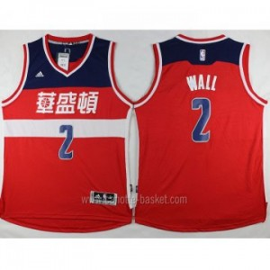 Maglie nba Washington Wizards John Wall #2 rosso Versione cinese