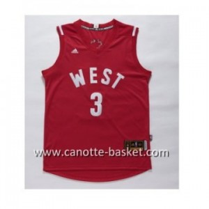 Maglie 2016 West All-Star Chris Paul #3 rosso