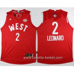Maglie 2016 West All-Star Kawhi Leonard #2 rosso