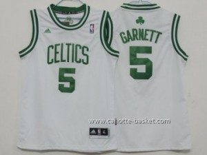 Maglie nba bambino Boston Celtics Kevin Garnett #5 bianco