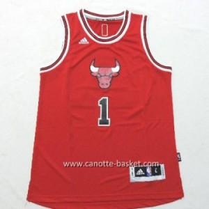 Maglie nba bambino Chicago Bulls Derrick Rose #1 rosso