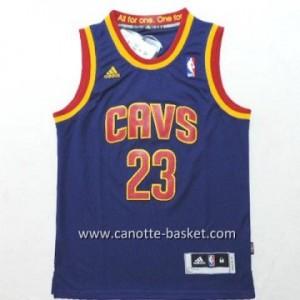 Maglie nba bambino Cleveland Cavalier LeBron James #23 blu