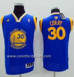 Maglie nba bambino Golden State Warriors Stephen Curry #30 blu