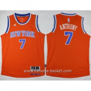 Maglie nba bambino New York Knicks Carmelo Anthony #7 arancione