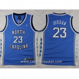 Maglie nba bambino University of North Michael Jordan #23 blu