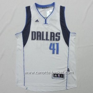 Maglie nba Dallas Mavericks Dirk Nowitzki #41 bianco