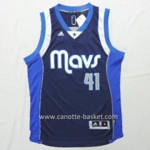 Maglie nba Dallas Mavericks Dirk Nowitzki #41 blu marino