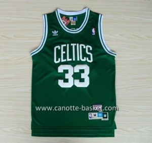 Maglie nba Boston Celtics Larry Bird #33 verde scuro