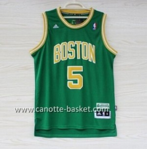 Maglie nba Boston Celtics Kevin Garnett #5 verde parola d'oro