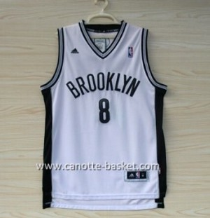 Maglie nba Brooklyn Nets ABA Deron Williams #8 bianco