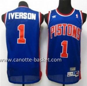 Maglie nba Detroit Pistons Allen Iverson #1 blu