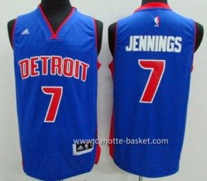 Maglie nba Detroit Pistons Brandon Jennings #7 blu
