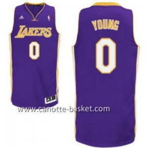 Maglie nba Los Angeles Lakers Nick Young #0 porpora