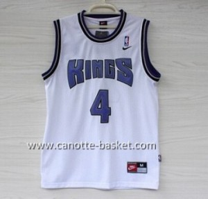 Maglie nba Sacramento Kings Chris Webber #4 bianco