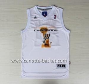 Maglie nba San Antonio Spurs Tim Duncan #21 bianco 2014 campioni