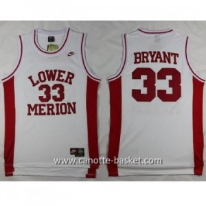 cantte nba NCAA LOWER MERION Kobi Bryant #33 bianco