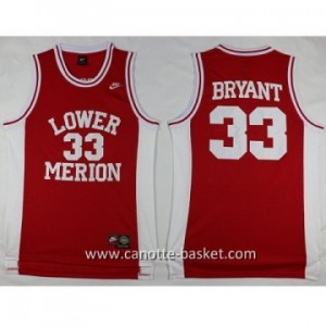 cantte nba NCAA LOWER MERION Kobi Bryant #33 rosso