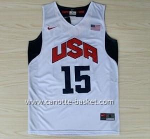 Maglie basket 2012 USA Carmelo Anthony #15 bianco