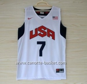 Maglie basket 2012 USA Russell Westbrook #7 bianco
