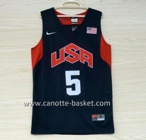 Maglie basket 2012 USA Kevin Durant #5 nero