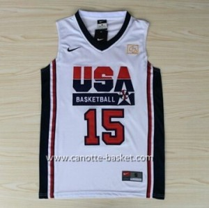 maglie basket 1992 USA Carmelo Anthony #15 bianco