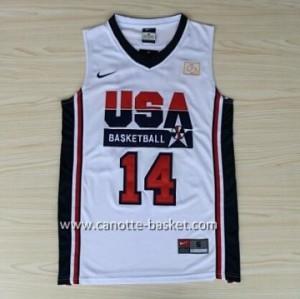 maglie basket 1992 USA Charles Barkley #14 bianco
