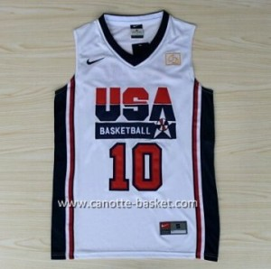 maglie basket 1992 USA Kobi Bryant  #10 bianco