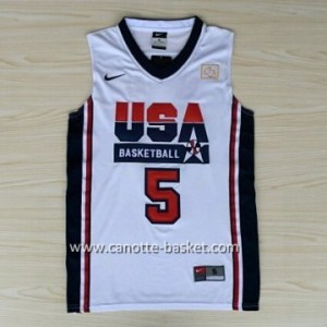 maglie basket 1992 USA Kevin Durant #5 bianco