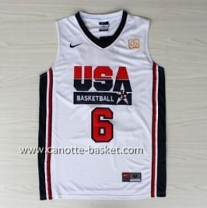 maglie basket 1992 USA Patrick Ewing #6 bianco