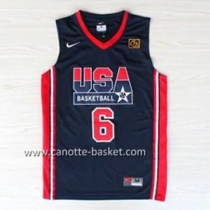 maglie basket 1992 USA Patrick Ewing #6 blu