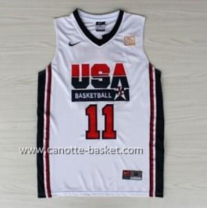maglie basket 1992 USA Karl Malone #11 bianco