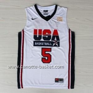 maglie basket 1992 USA David Robinson #5 bianco